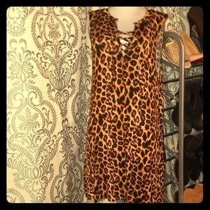 L&B Lucky & Blessed Cheetah print dress